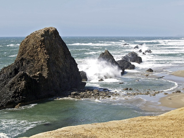 orilla del mar y rocas